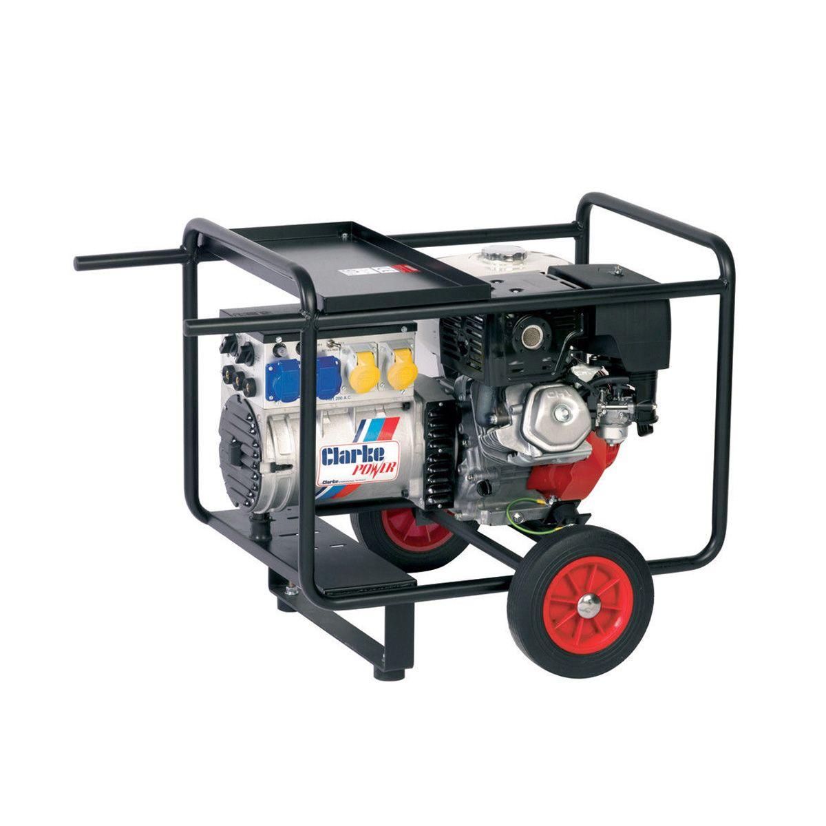 Clarke WH215 Honda Petrol Engine Driven Welder Generator 6.5kVA 240V  #A52826