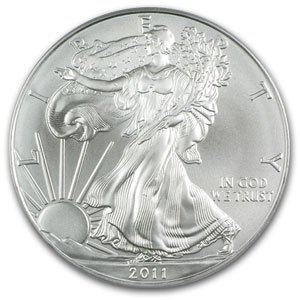 2011 AMERICAN SILVER EAGLE 1 oz. PURE SILVER (UNCIRCULATED) 25th Anniversary Year Coin