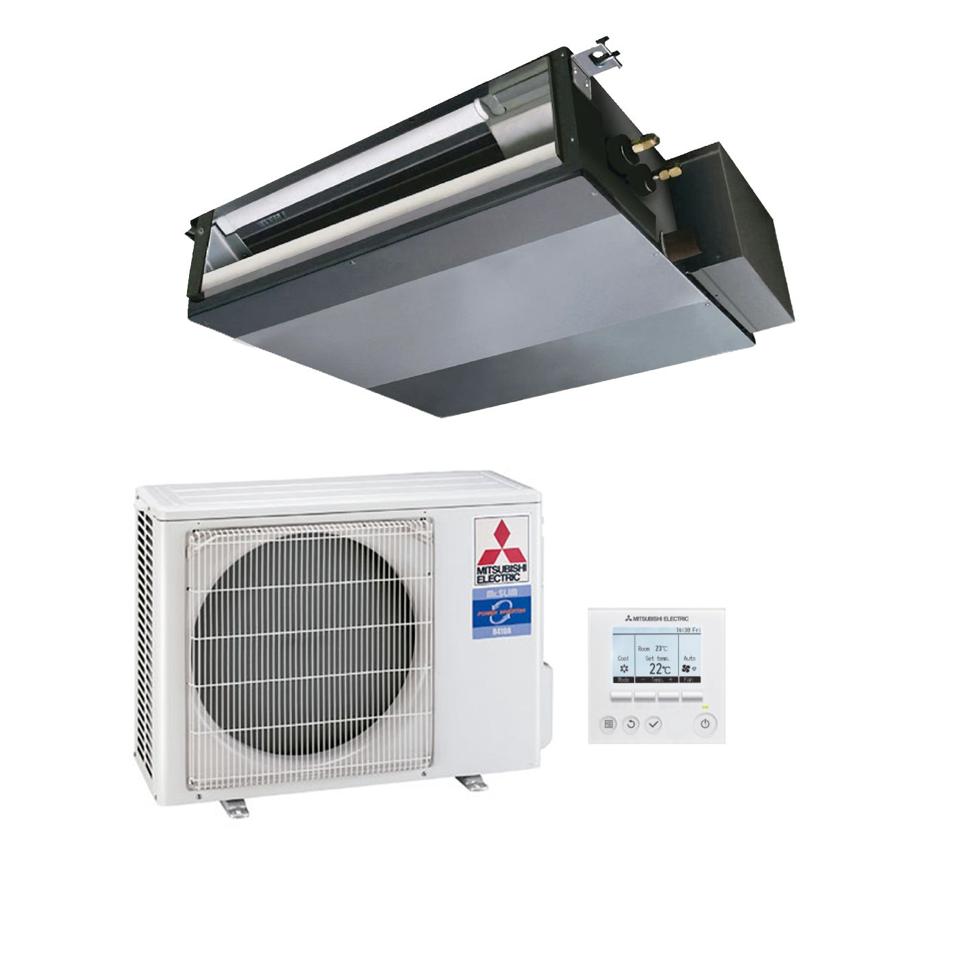 Mitsubishi Electric Air Conditioning SEZ-KA50VAQ Concealed Ducted Heat Pump  Inverter 5Kw/17000Btu A+ 240V~50Hz