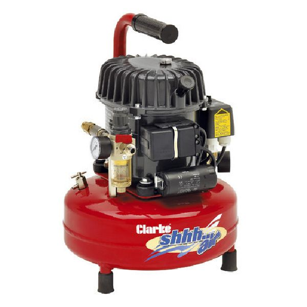 Clarke ShhhAir50/24 Quiet Run Compressor 50 Ltrs / Min With 24 Litre Air Receiver 240V~50Hz