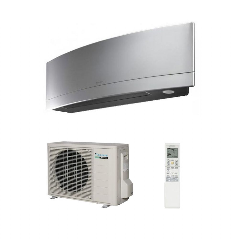 daikin air conditioning emura ftxg35ls silver wall mounted air conditioning inverter heat pump 3. Black Bedroom Furniture Sets. Home Design Ideas