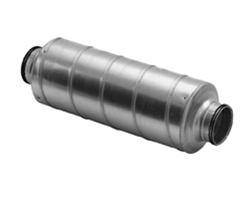 Duct Silencer Attenuator With Rubber Seal For Circular Spiral Ducting 80mm To 630mm