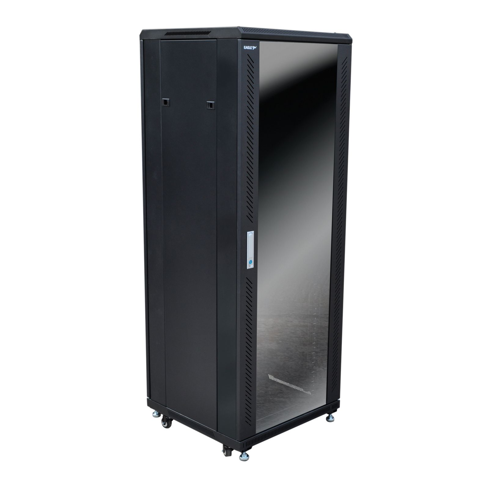 Eagle 33u Network Data Rack Cabinet With Glass Door