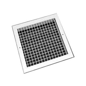 Egg Crate Grille With Damper White Finish 100mm To 600mm