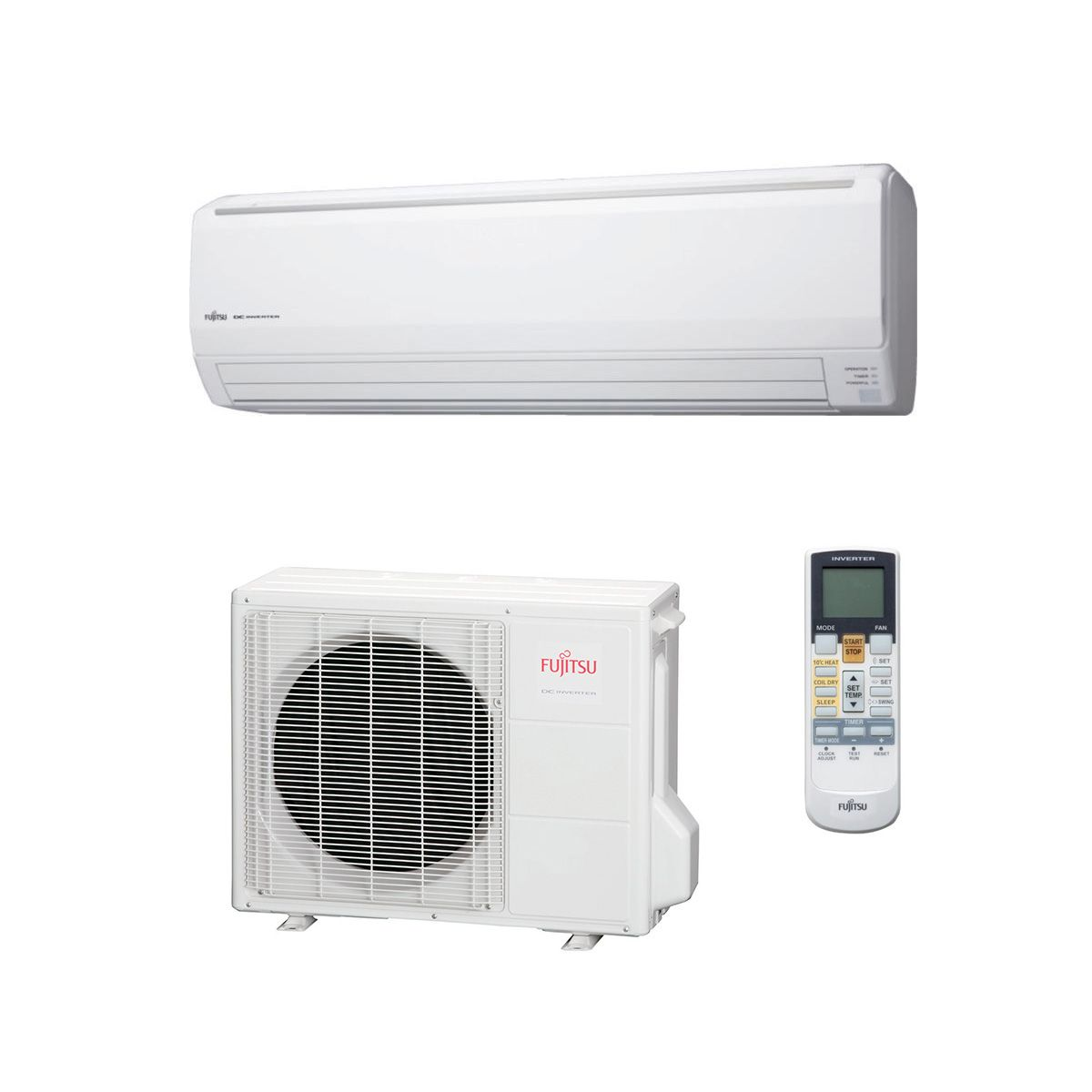 Wall Mounted Heating And Cooling Units : Fujitsu air conditioning asyg lfca wall mounted heat pump