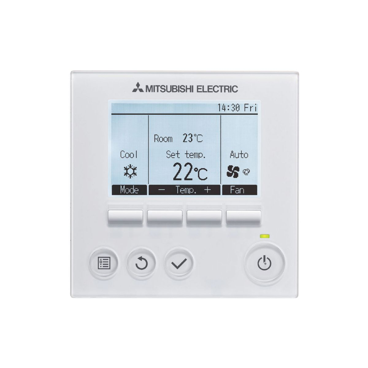 Mitsubishi Electric Remote >> Hard Wired Mitsubishi Electric Air Conditioning 289124 Par32maa J Deluxe Hard Wired Remote Controller