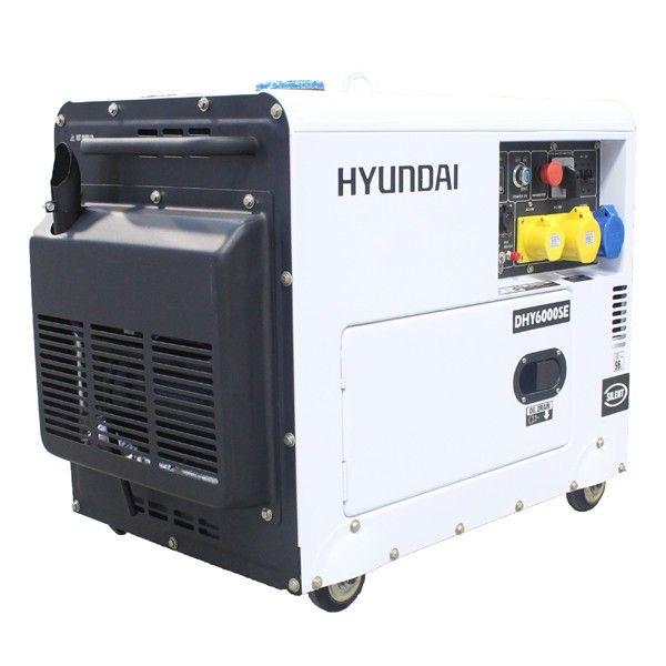 hyundai dhy6000se silent diesel generator 230v 50hz. Black Bedroom Furniture Sets. Home Design Ideas