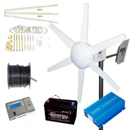 Land Based Wind Turbine Installation Kit 250W With 6.4Meter Tower