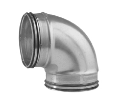 Lindab B90 Safe Fitting 90 Deg Pressed Bend Duct Fitting With Rubber Seal 80mm To 1250mm