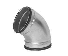 Lindab BU30  30 Deg Duct Elbow With Rubber Seal For Circular Spiral Ducting 80mm To 1250mm