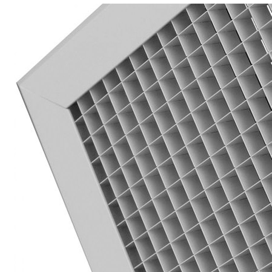 Metal Egg Crate Grille 595mm X 595mm White Finish With