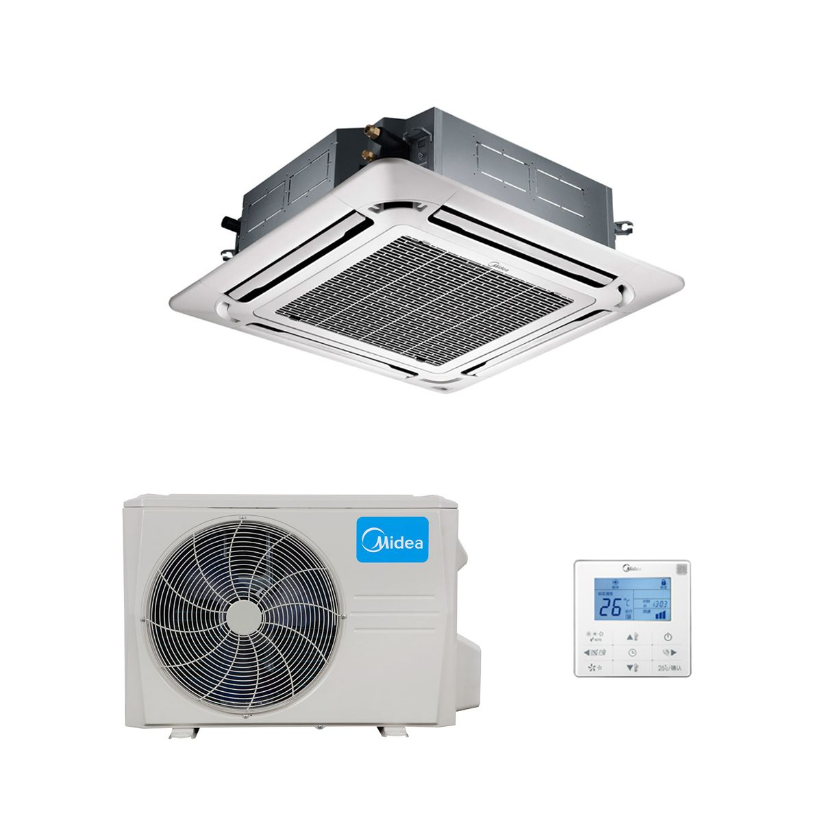Midea Air Conditioning Mca3u 18hrfn1 Compact Round Flow