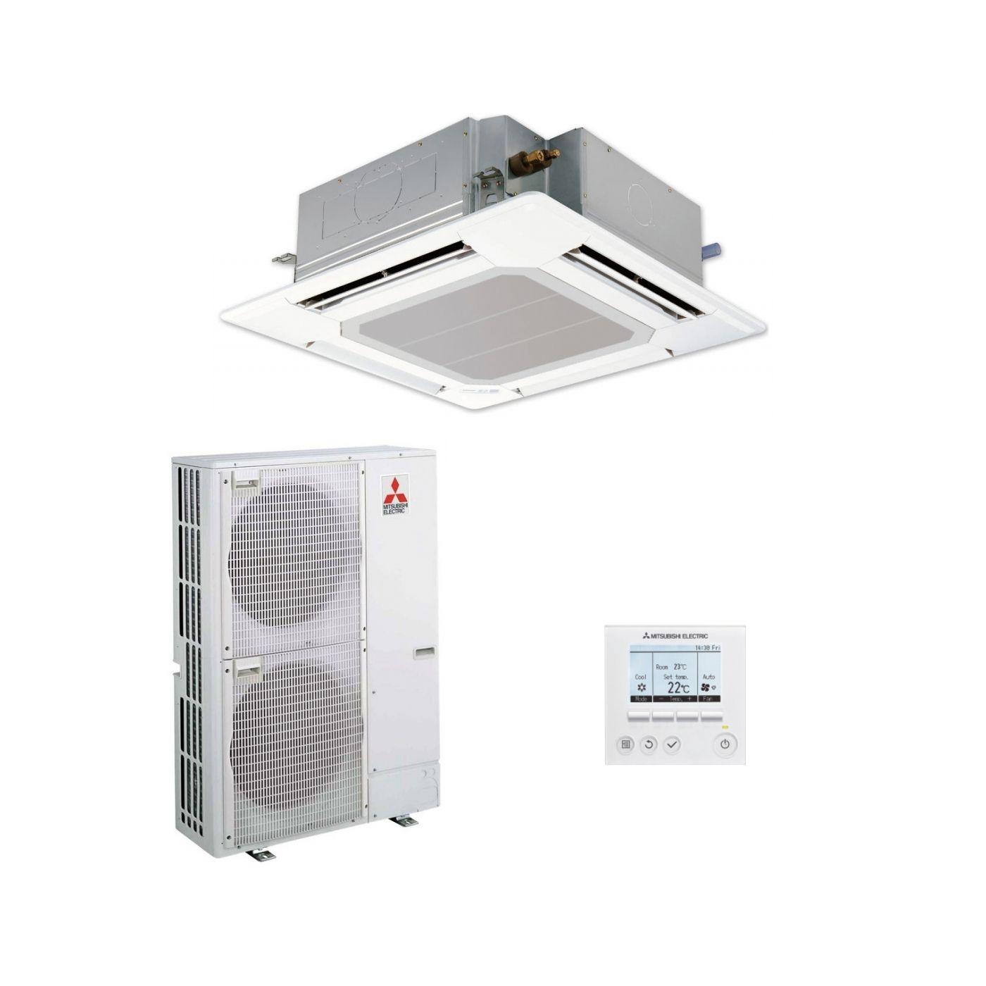 Mitsubishi Electric Air Conditioning Cassette PLA-ZM125EA Power Inverter  Heat Pump 12.5Kw/42000Btu R32 A++ 240V/415V~50Hz