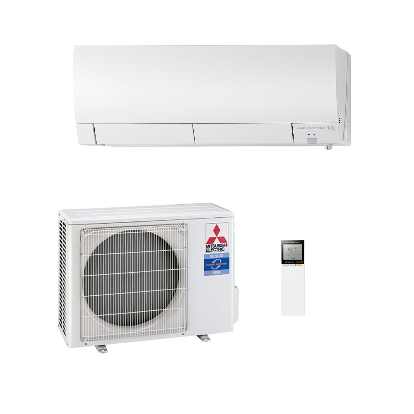 Mitsubishi Electric Air Conditioning MSZ FH25VE Wall Mounted 2.5Kw/9000Btu  Inverter Heat Pump A+++ 240V~50Hz