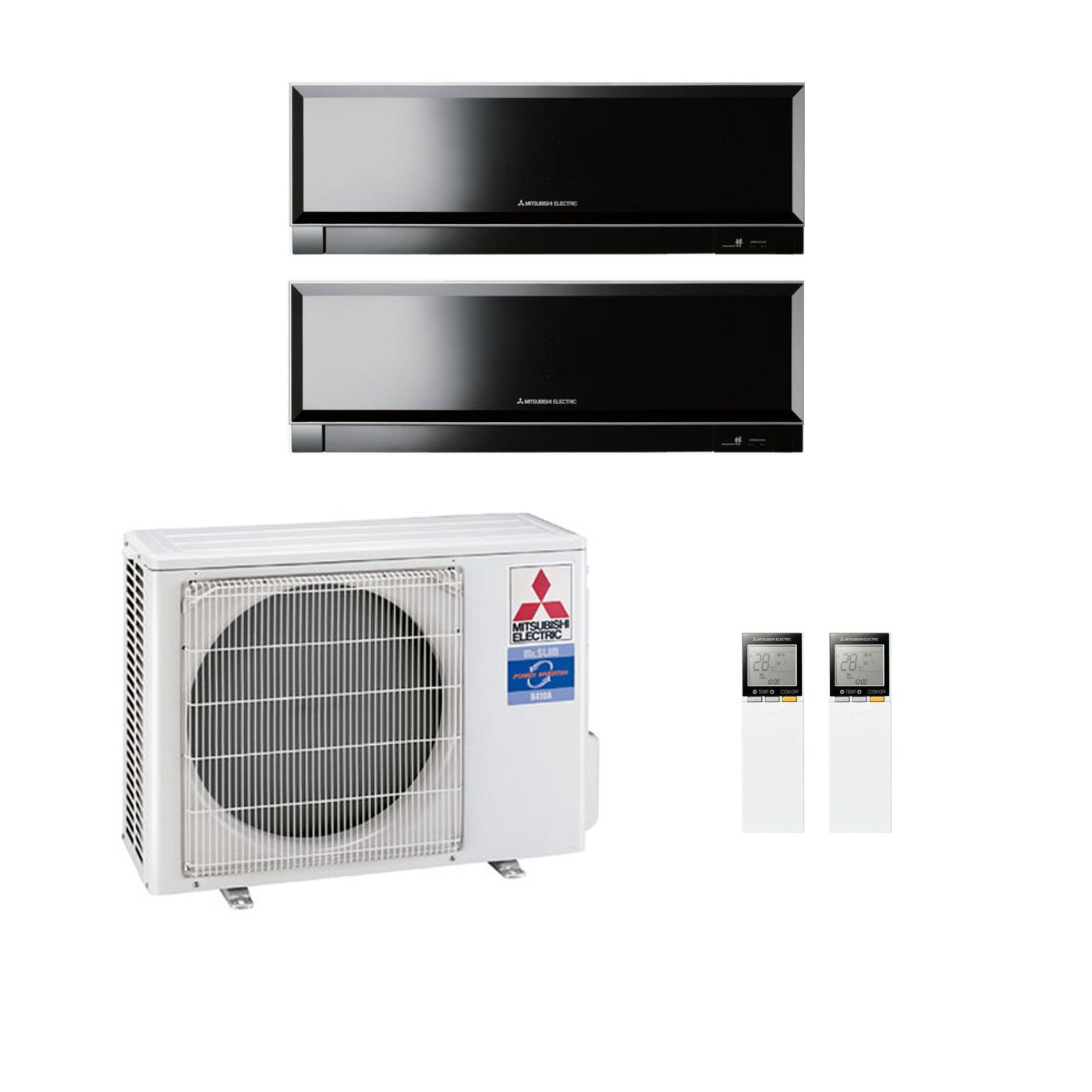 Mitsubishi Electric Air Conditioning MXZ 2D53VA 2 X 3.5Kw Zen Multi Room  Wall Air Conditioning A 240V~50Hz