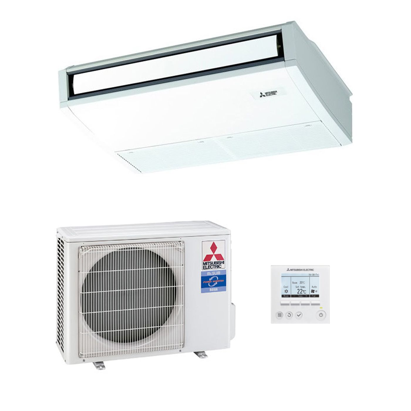 Mitsubishi Electric Air Conditioning Pca Rp50kaq Ceiling Mounted Thermostat Controller Inverter Heat Pump 5kw 17000btu A 240v50hz