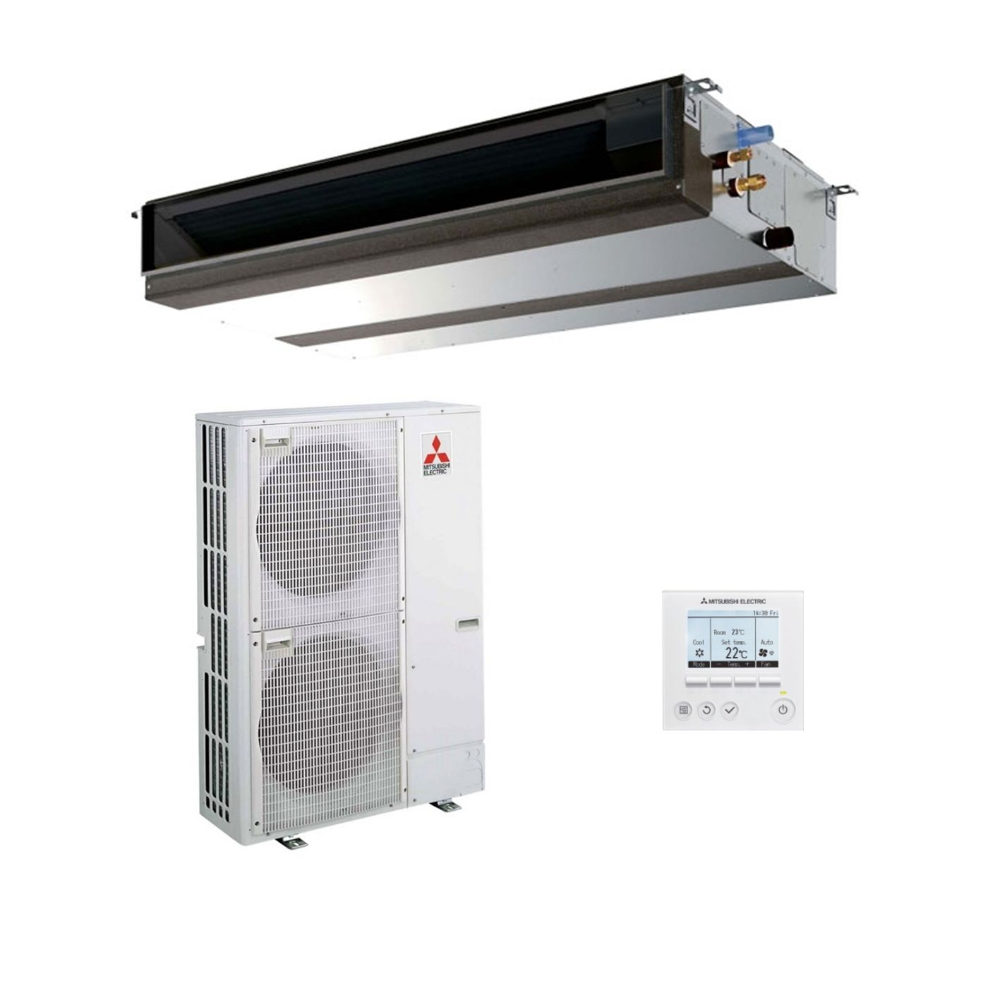 Mitsubishi Electric Air Conditioning PEAD-M125JA Ducted Concealed Inverter  Heat Pump 12.5Kw/42000Btu R32 A+ 240V/414V~50Hz