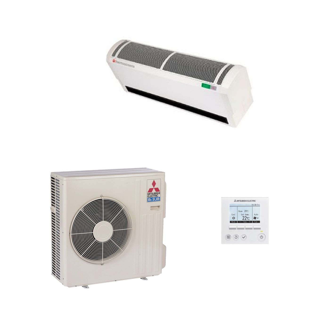 Electric Air Curtain Heaters Chameleon The Architectural: Mitsubishi Electric Heat Pump Air Curtain HP1000 DXE 8kW