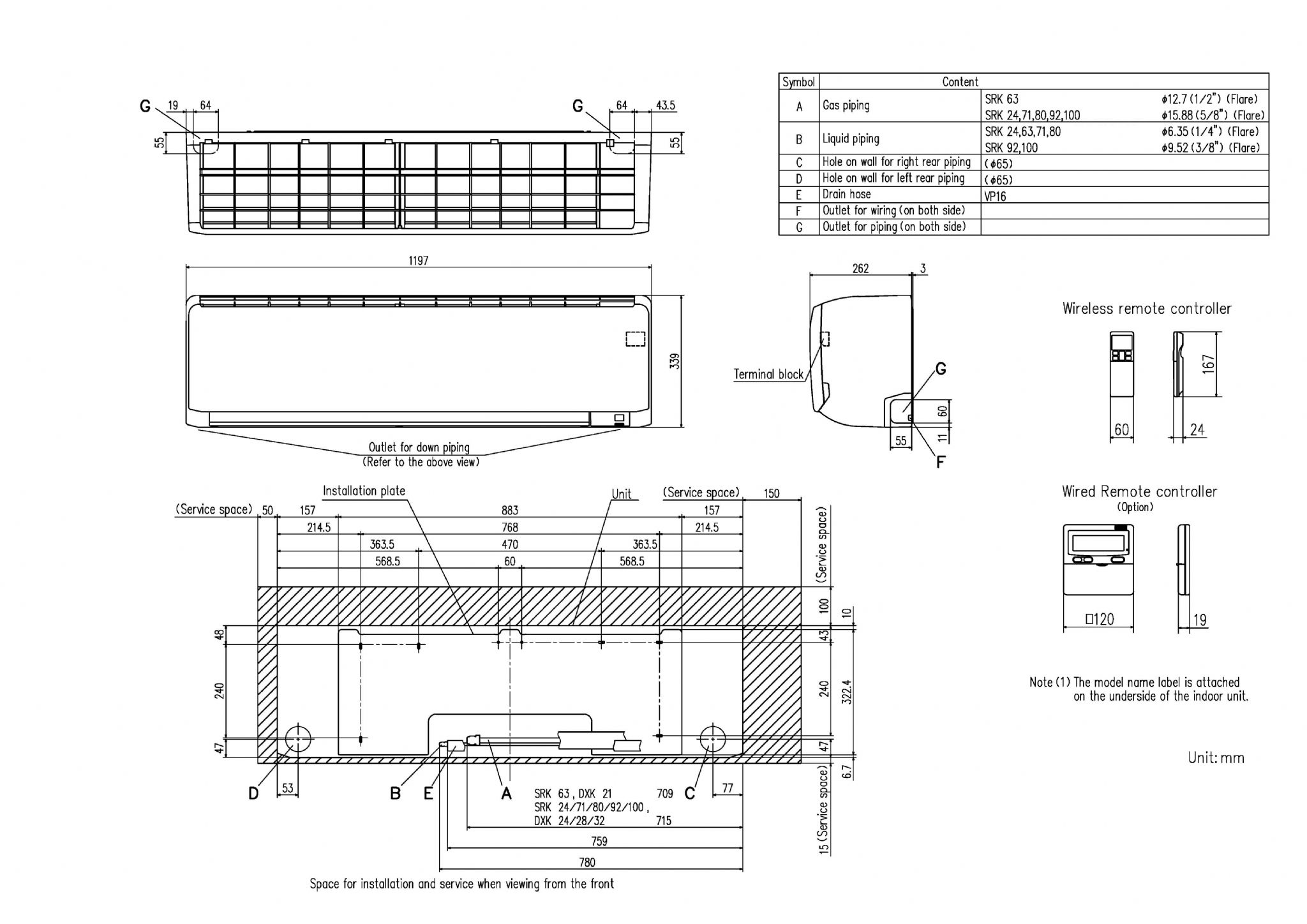 Mitsubishi Heavy Industries Air Conditioning Wiring Diagram Vrf Srk80zrs Wall Mounted