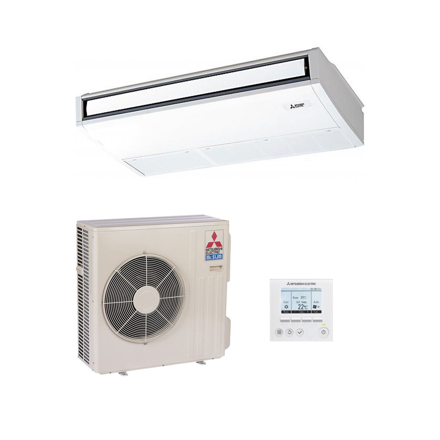 Mitsubishi Electric Air Conditioning Pca Rp125kaq Ceiling Suspended Inverter Heat Pump 12 5kw 41000btu 240v 415v 50hz