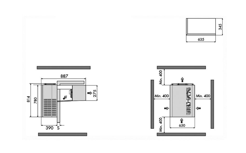rivacold ftl016g012 refrigeration monoblock wall mounted