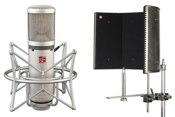SE2200A Microphone Including Suspension Mount and Reflection Filter Pro Bundle