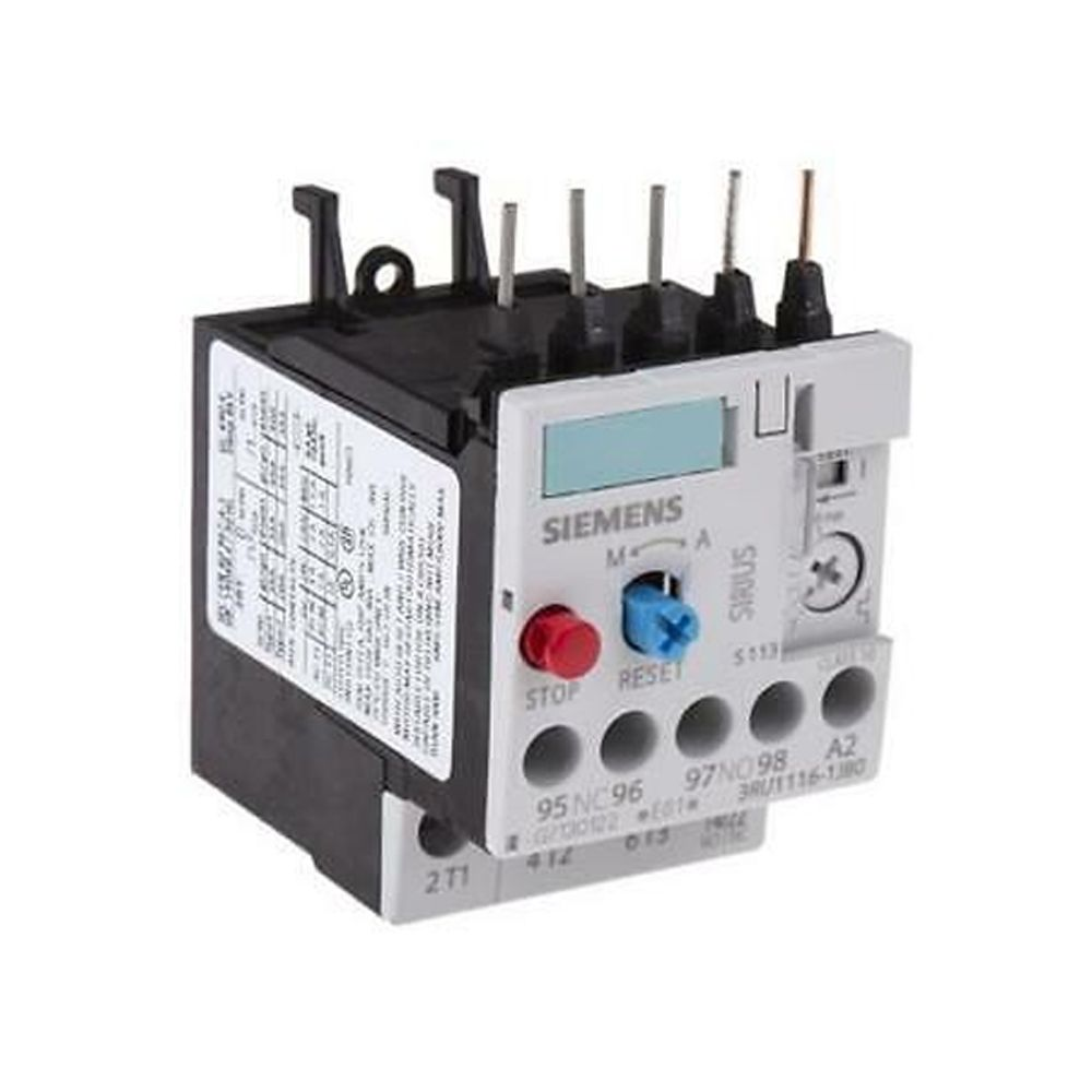 SIEMENS  3RU1126-1JB0 7-10A RELE' TERMICO 7-10A S0 Overload Relay for mounting on Contactor 7-10A