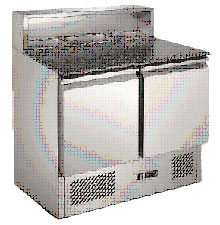 Stainless Steel Saladette Counter 900mm 240V