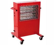 The Big Red Rad 3kw / 12000Btu Heavy Duty Industrial Radiant Heater With 2 Heat Setting 240V~50Hz