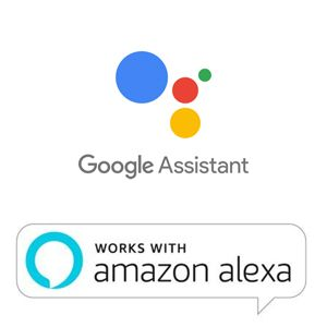 works with google assistant and alexa