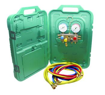 Refco Professional Air Conditioning / Refrigeration 4 Way Manifold BM4-3-DS  R134a, R22,R404a, R407c