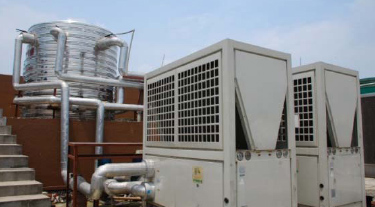 High Output Commercial Industrial Air Source Heat Pump